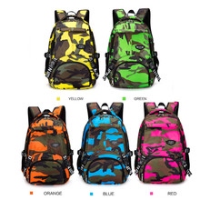 SPLJJILY Camouflage Backpacks, Lightweight Oxford Fabric Casual Daypacks  for Teens Boys Multi- pockets Outdoor Travel Daypack