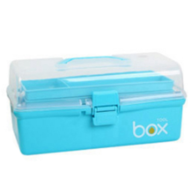 Multi-Layer Medicine Box Plastic Handle Storage Box Portable Plastic Storage Box Stationery Storage Box