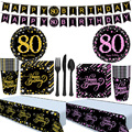 Тарелки на день рождения 80st, салфетки, скатерть 80st, раньше для родителей, товары для дня рождения 80-летних