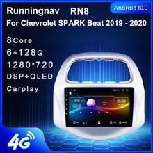 """9 """"4G LTE אנדרואיד 10.1 עבור שברולט ביט ספארק 2018 2019 2020 מולטימדיה סטריאו DVD לרכב נגן ניווט GPS רדיו"""