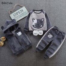 Комплект одежды для маленьких мальчиков и девочек с героями мультфильмов, штаны с капюшоном для младенцев, одежда для мальчиков и девочек, с...
