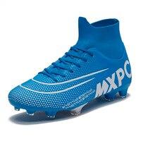 Спортивные кроссовки, размер 35-45, футбольные бутсы, уличные луга для мужчин и мальчиков, футбольная обувь, высокие детские бутсы для трениро...