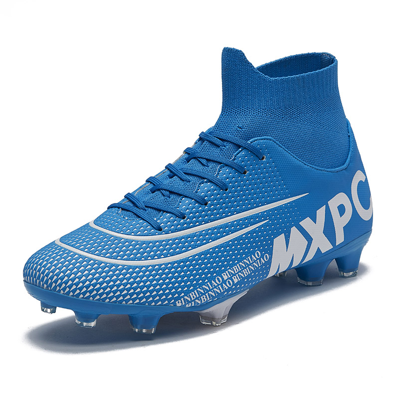Football-Boots Sport-Sneakers Cleats-Training Soccer-Shoeshigh Ankle Kids Outdoor Men title=