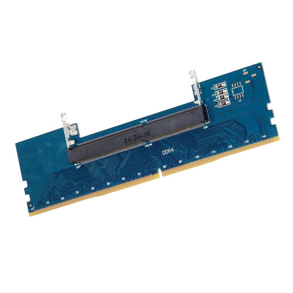 Laptop DDR4 RAM To Desktop Adapter Card Memory Tester SO DIMM To DDR4 Converter Desktop Memory Card Connect Repair PC Office