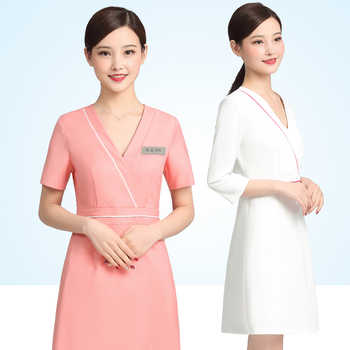 Beauty salon cosmetologist work dress summer short temperament high-end fashion professional clothing