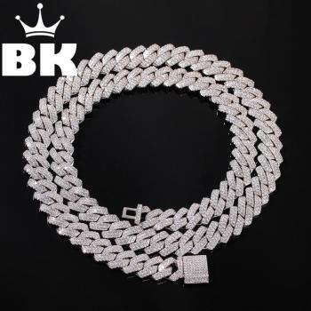13mm 2Row Zircon Miami Cuban Link Necklace Gold silver color Plated Luxury Copper Micro Paved CZ Cuban Chain 16/18/20/22/24inch