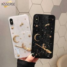 KISSCASE las estrellas y la luna, caso del TPU para el iPhone 8 7 8 6 X S X XS XR XS MAX Funda para iPhone 8Plus 6 7Plus 6S 6Plus fundas(China)