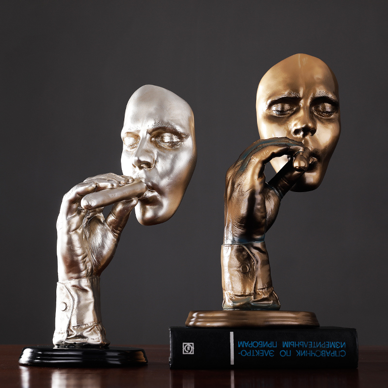 Personality Desktop Smoker Goods Furniture Display Originality Gift Ktv Bar Accessories Statue Sculpture Industrial Decor Resin