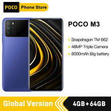 Versão global poco m3 smartphone snapdragon 662 4gb 64gb 6.53