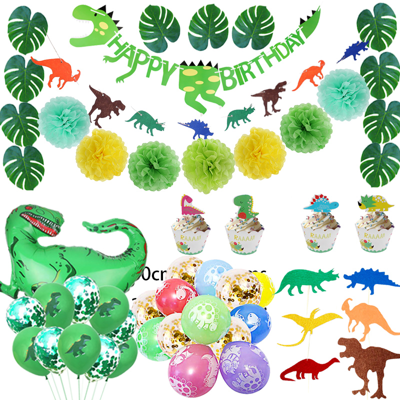 US $10.10 10% OFF10 Pack Dinosaur Party Supplies Little Dino Party  Decorations Set for Kids Birthday Party Baby Shower Decoration Children  PartyParty