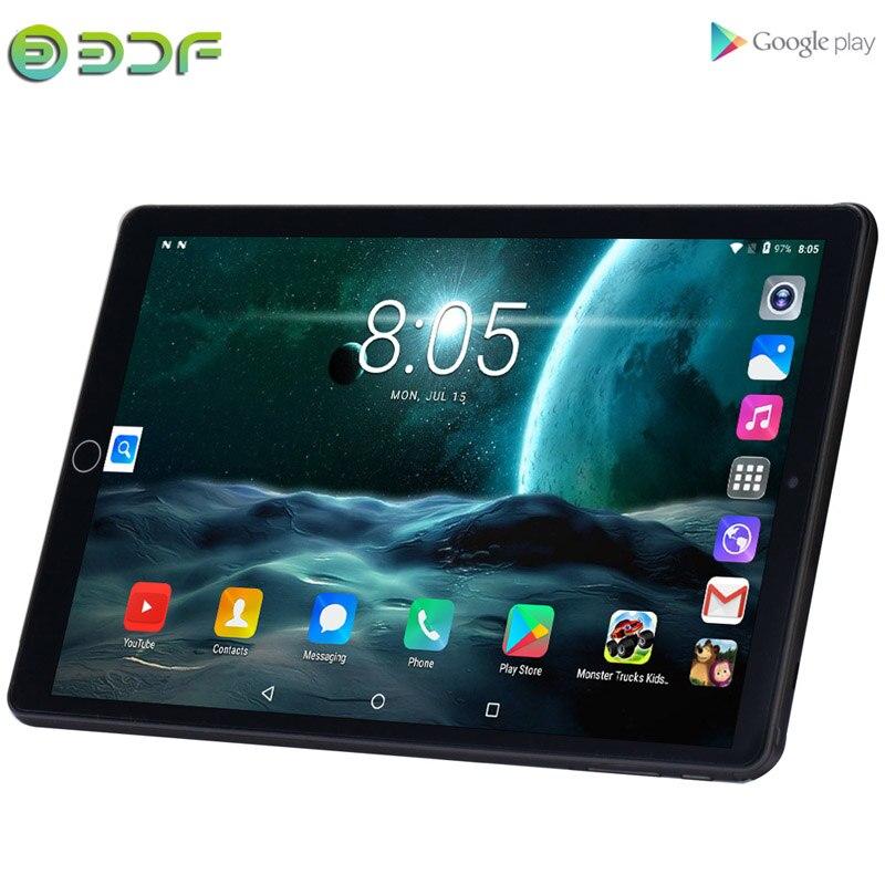 10,1-дюймовые планшеты 3G планшет с телефонным звонком 2 ГБ + 32 ГБ четырехъядерный Android 7,0 Wi-Fi Bluetooth 4,0 Двойная SIM стальная настоящая обновленная п...