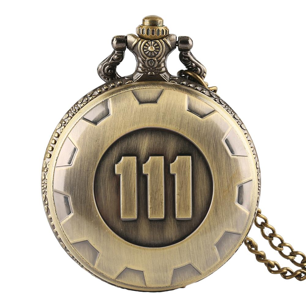 Pocket Watch Fallout 4 Vault 111 Game Fob Steampunk Pocket Watch For Mens Children Boys Girls Relogio De Bolso Xmas Gift