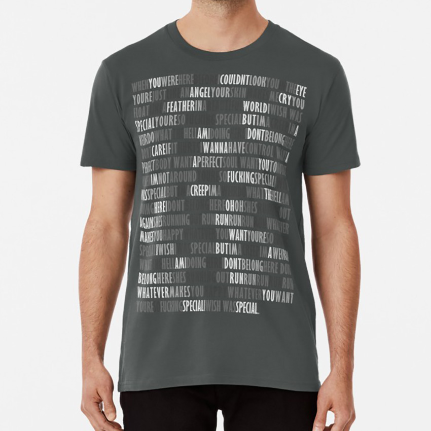 Radiohead - Creep T Shirt Radiohead Creep Music Typography Cool Rock Song Lyric Creep image