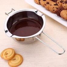 1 шт. Благодаря особенной конструкции крючка его Нержавеющая сталь чаша масло растопление шоколада горшок Черпак для разогрева сковорода JS23
