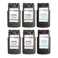 Canon remanufaturados PG510 CL511 XL Cartucho de Tinta para MP240 MP250 MP260 MP280 MP480 MP490 IP2700 MP480 MX320 Impressoras Cartuchos de tinta     -