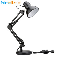 Swing Arm Desk Lamp Interchangeable Base Or Clamp Classic Architect Clip On Table Lamp Adjustable Arm LED light bulb E27 EU US claite flexible swing arm clamp mount lamp office studio home e27 e26 table black desk light ac85 265v
