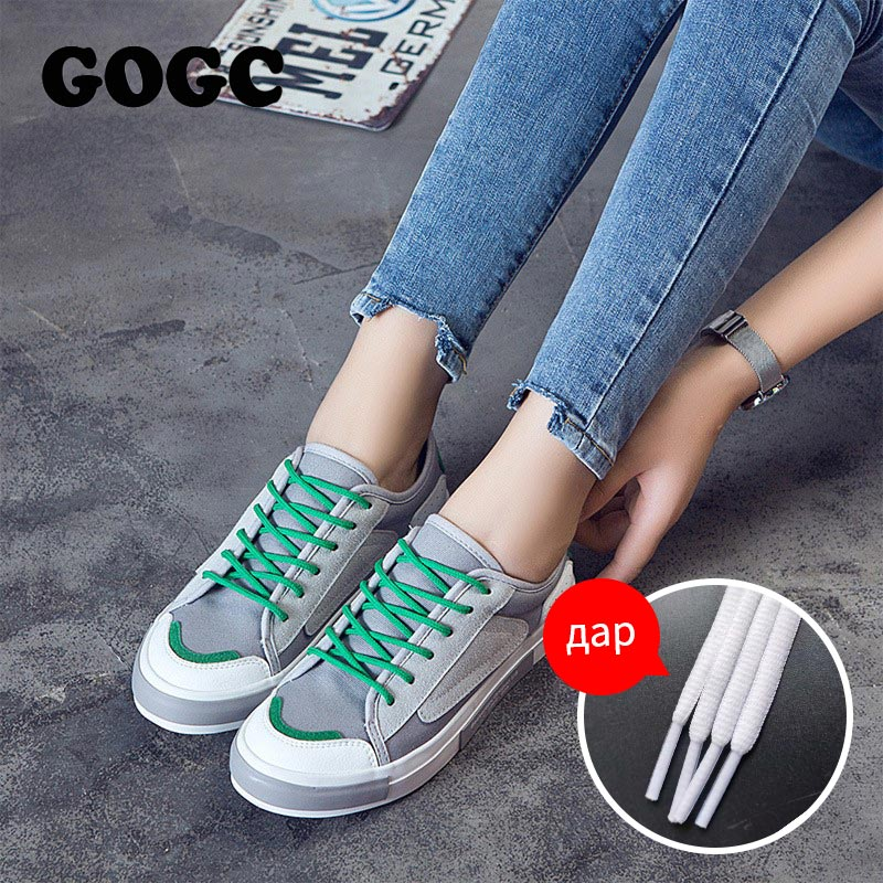 GOGC 2019 New Women Shoes White Sneakers Women Slipony Women Canvas Shoes Female Summer Running Shoes Women Casual Shoes G781