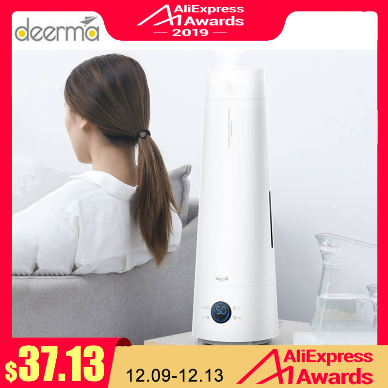 Newest Deerma LD220 4L Air Humidifier Touch-screen Standing Cool Mist Aromatherapy Essential Oil Humidifier With Remote Control