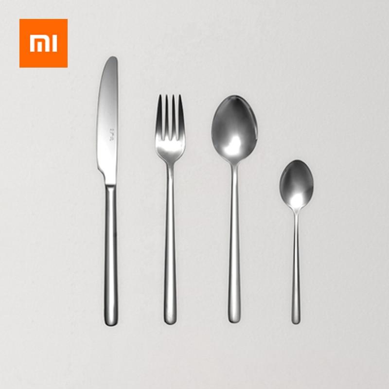 Xiaomi Tableware Set Stainless Steel Spoons Forks Soup Scoop Ice Cream Tea Coffee Spoon Home Tableware Dinnerware Cutlery