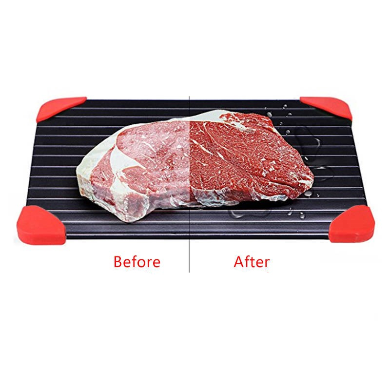 Thaw Master Home Use Fast Defrosting Tray Thaw Frozen Food Meat Fruit Quick Defrosting Plate Board Defrost Tray Kitchen Tools