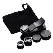 3-в-1 Широкий формат макро объектив «рыбий глаз» Камера Наборы мобильного телефона объектив «рыбий глаз» с зажимом 0.67x для всех мобильных телефонов