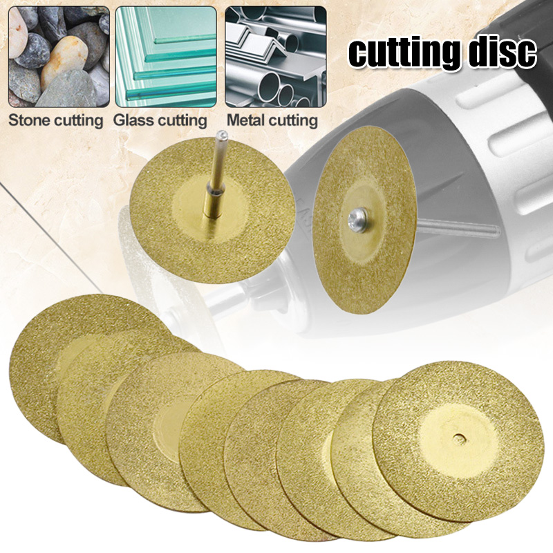 10Pcs/set 16-60mm Diamond Grinding Wheel Circular Cutting Grinding Disc Diamond Discs For Drill Fit Rotating Tool FAS6