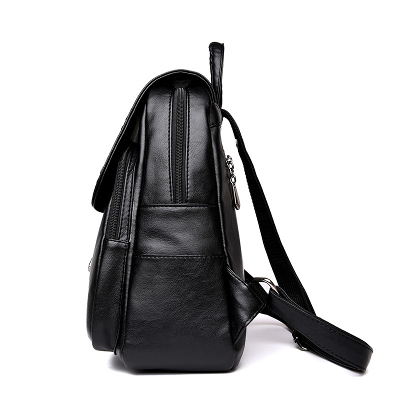 Image 3 - Brand New Female Backpack Women Backpack Leather School Bag Women Fashion Designer Leather Bagpacks for Girls 2018-in Backpacks from Luggage & Bags