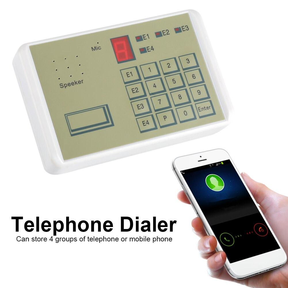 12V Telephone Voice Dialer Wired Telephone Voice Auto-dialer Burglar Security House Alarm System