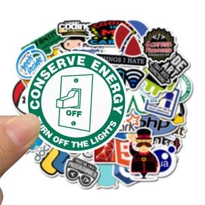 Image 4 - 50pcs Pack Programmer Geek Java Computer Stickers Waterproof PVC Skateboard Suitcase Snowboard Laptop Sticker Kids Classic Toy