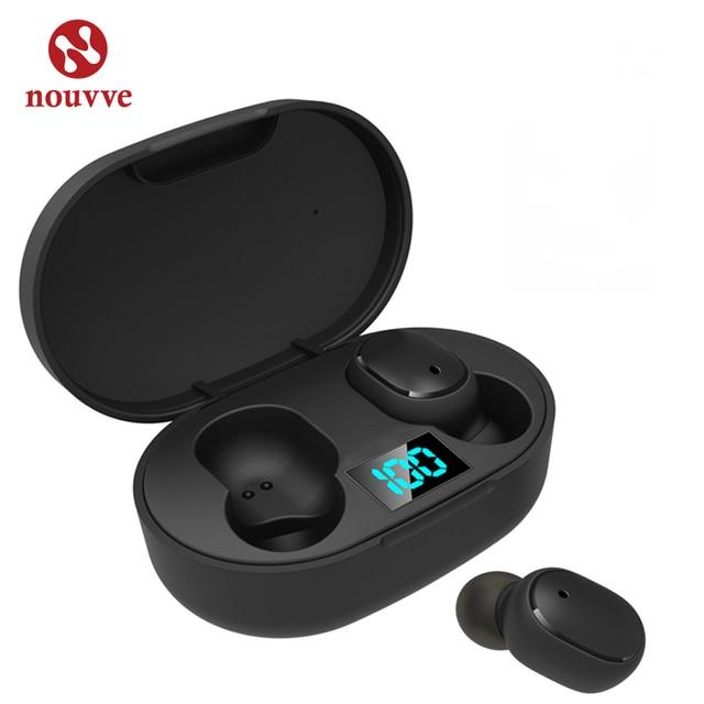 سماعات أذن TWS بلوتوث 5.0 لاسلكية سماعات PK Redmi سماعات أذن بتقنية LED تعمل باللمس مع ميكروفون لهاتف شاومي