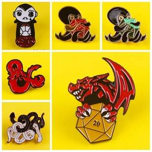 Забавный панк-скелет, эмалированная булавка, змея, кости, осьминог, Череп, значок призрака на одежду, брошь на рюкзак, одежда, отворот, булавк...