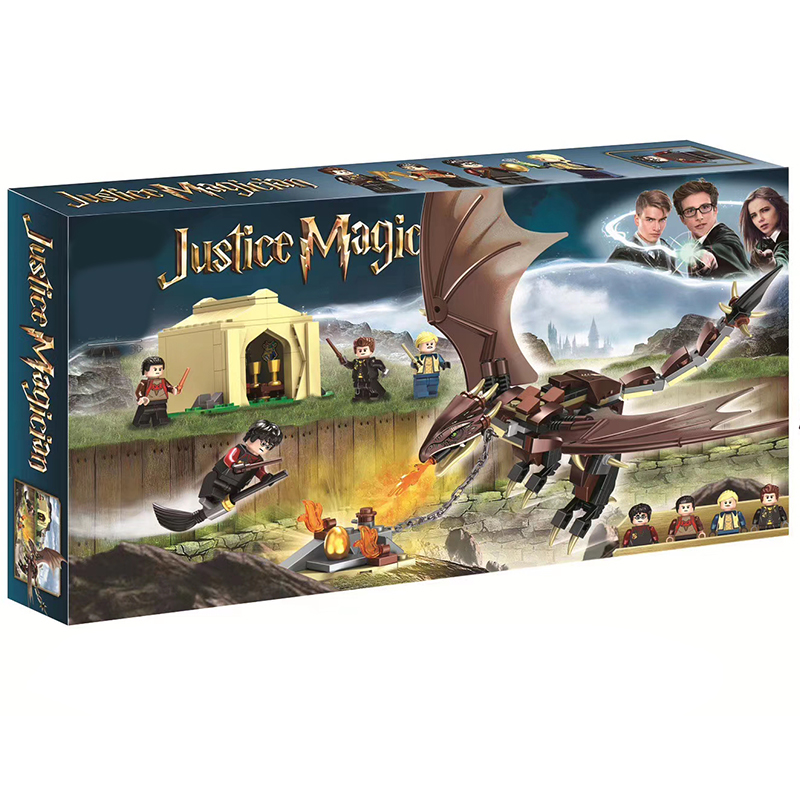 2020 New Harri Hungarian Horn Tail Triwizard Challenge Model Building Blocks Brick Compatible LegoinGOOD 75946 Kids Toy Gifts