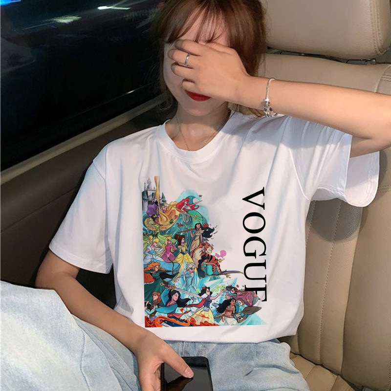 2020 New Vogue Princess   T     Shirt   Women Cartoon Graphic Print Top Ladies Funny Casual Loose Fashion Harajuku Style Tshirts Femme