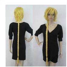 +01376@Q8+++Hearts Halloween Cosplay Long Yellow Braids Layered Wigs