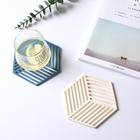 Northern Europe High-temperature Resistant Silicone Coaster Household Placemats Coasters Porous Dining Table Cushion Heat Resist