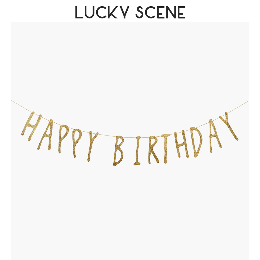 Glitter feliz aniversário carta banner guirlanda bunting bandeira sala fundo festa feliz bolo decoração do evento ouro s00620