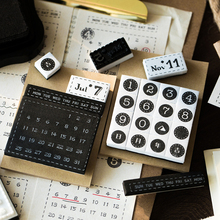 Foam-Stamp-Set Calendar Stationery Journaling Bullet Yoofun Scrapbooking-Month for Day