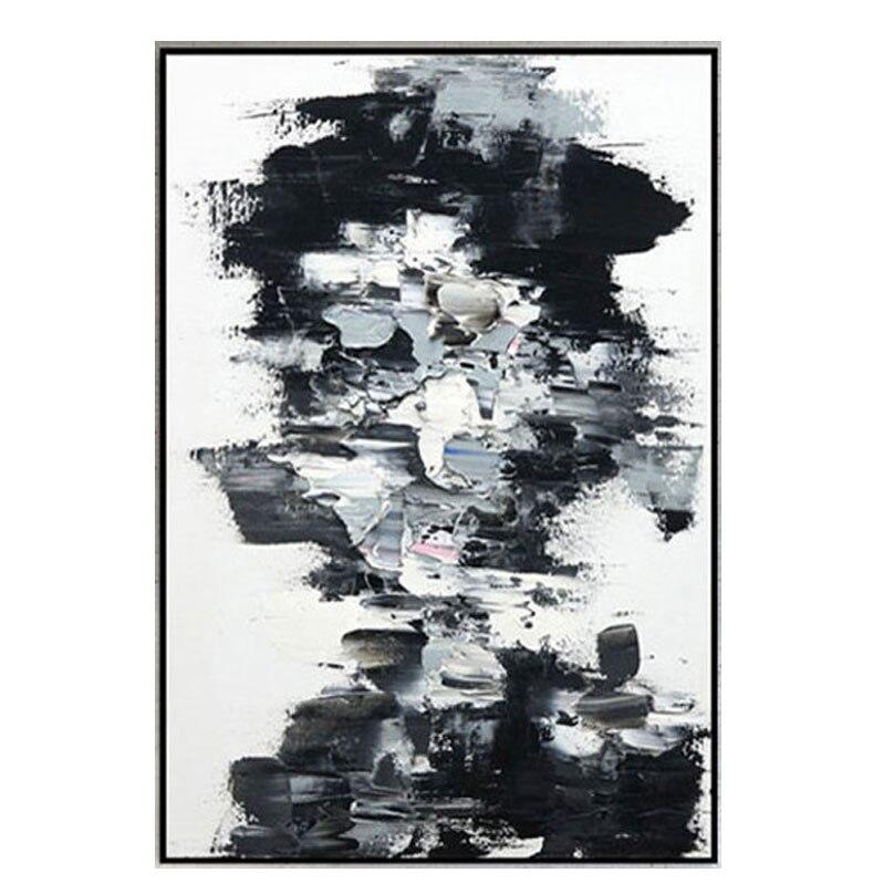 Tableau de Portrait abstrait peint à la main | Peinture sur toile, art moderne, blanc et noir, idées d'art murales, peinture à l'huile pour visage