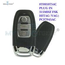 Remtekey Smart Key 3 Button with Key Insert 315Mhz 8T0959754C for Audi A4 A6 Q5 SQ5 Car Key Replacement