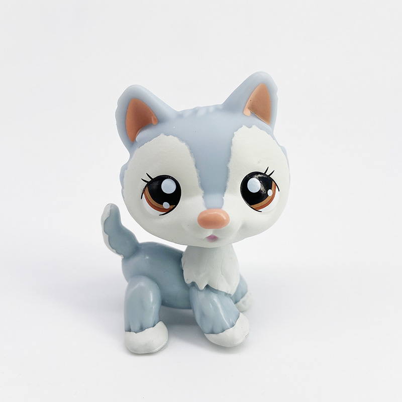 LPS CAT Rare Pet Shop Toys Stands Short Hair Cat Original Kitten Husky Puppy Dog Fox Cute Animal Old Collection Figures Grinch