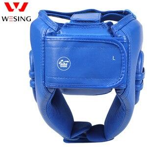 Image 4 - Wesing aiba aprovado boxe cabeça guarda artes marciais muay thai combate protetor de cabeça profissional atleta capacete competição