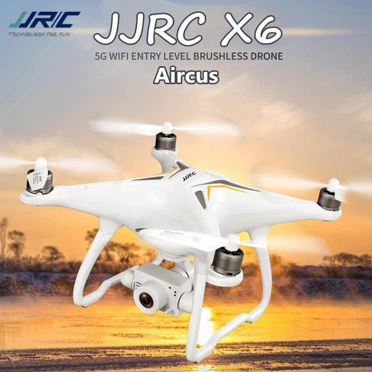 Original JJRC X6 Aircus Brushless <font><b>GPS</b></font> RC Drone With 1080p HD Camera / 2-axis Stabilization PTZ Gimbal WIFI FPV Quadcopter RTF image