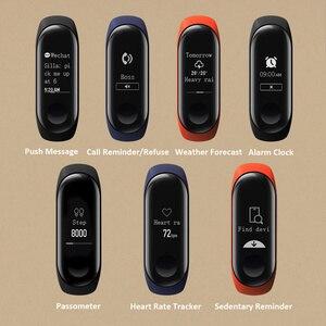 Image 3 - Xiaomi MiBand 3 Mi band 3 Fitness Tracker pulsometr 0.78 wyświetlacz OLED Bluetooth 4.2 dla androida IOS
