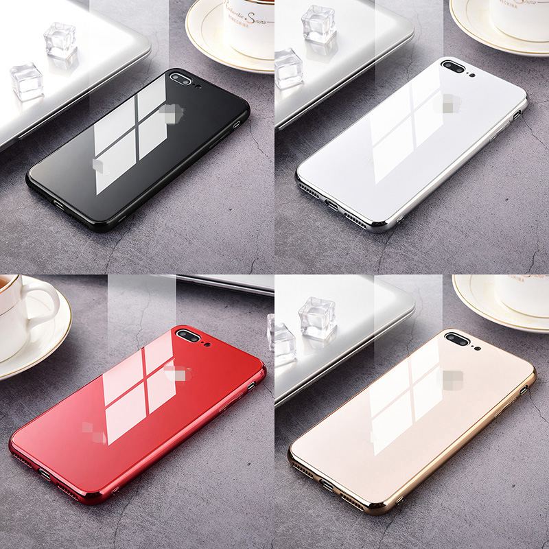 Luxury Slim 9H Tempered Glass Case For Apple iphone 8 7 6 6s plus X XS XR 11 Pro MAX Mirror Fashion Glossy Mirror Cover Funda image
