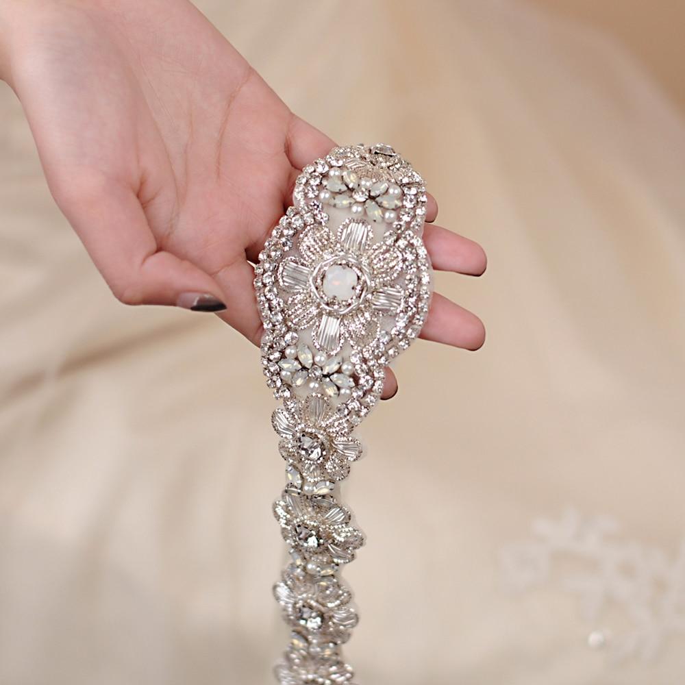 TRiXY S371 Stunning Rhinestone Belt Wedding Belts Crystal Beading Belt Shinny Bridal Belt Sashes Wedding Dress Sashes Belt