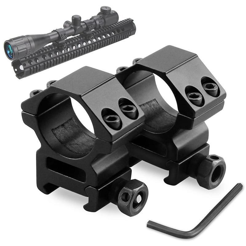 Hunting Rifle Ring Scope Mount Mount Optical Sight Bracket Holder Support Scope Mount Ring Flashlight Clip Ring Weaver Rail