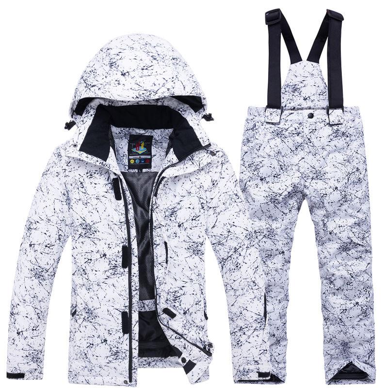 -30 Children Snow Suit Wear Outdoor Waterproof Windproof Warm Costume Winter Snowboarding Ski Jacket + Snow Pant Boys And Girls