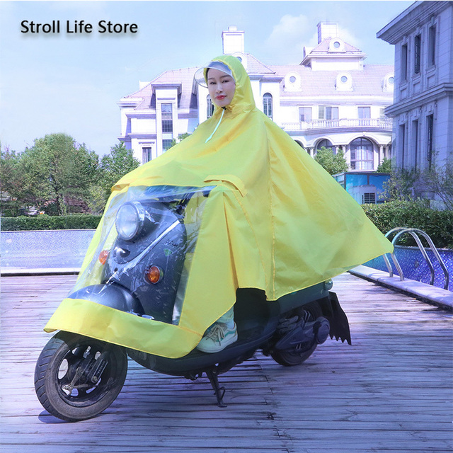 Yellow Raincoat Women Electric Bike Poncho Cute Korean Long Motorcycle Rain Coat Windbreaker Men Jacket Capa De Chuva Gift Ideas 4