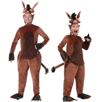 IREK Halloween Costume Adult Children Wild Boar Mountain Pig Cosplay Costume Party Festival Clothing