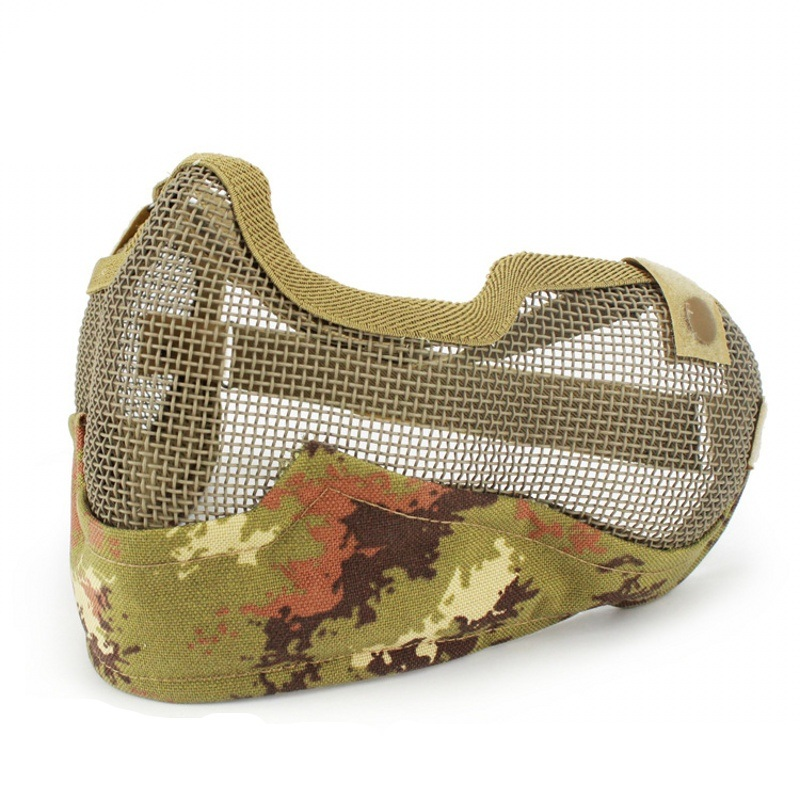 Tactical Skull Paintball V2 Mask Protective Cosplay Party CS Wargame Half Face Strike Steel Mesh Hunting Military Airsoft Masks